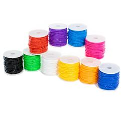Craft County 10 Pack of Plastic Lacing Cord