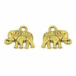 arricraft 100PCS Nickel Free Lead Free Elephant Charm Beads,