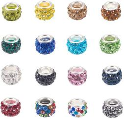 Craftdady 100Pcs Random Mixed Color Polymer Clay Large Hole