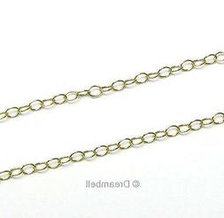 "12"" x 14K Gold filled Bead OVAL RING Cable Chain 2.2mm Dream"