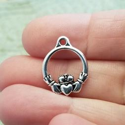 TierraCast -  Antiqued Silver Plated Charms - Irish Celtic C