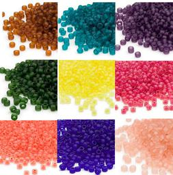 200 Matsuno 6/0 Glass Seed Beads Frosted Translucent & Insid