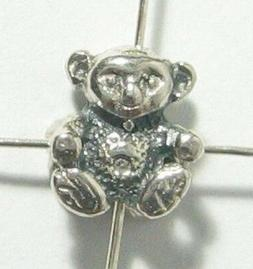 2x Sterling Silver Cut Animal Koala Bead Spacer Connector 8m