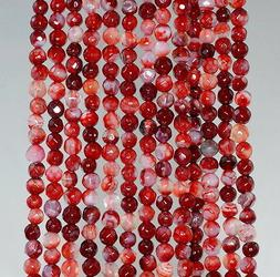 4MM  AGATE GEMSTONE CHERRY BLOSSOM MULTI FACETED ROUND LOOSE