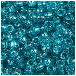 500 Teal Green Transparent 9x6mm Barrel Pony Beads Made in t