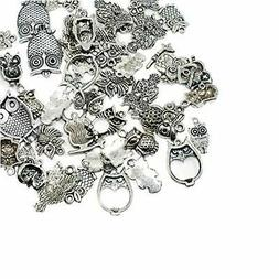 arricraft 50pcs Tibetan Silver Alloy Pendants Metal Beads Ow