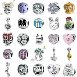 Authentic Solid 925 Sterling silver Charms European Beads Pe