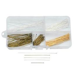 Beadaholique Basics, Head Pin Variety Pack, 225 pieces, Asso