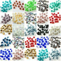 Bulk 500Pcs Faceted Bicone Crystal Glass Beads Loose Jewelry