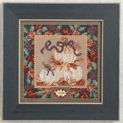 Mill Hill Buttons and Beads - White Pumpkins - Cross Stitch