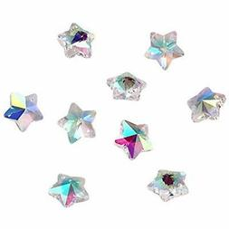 Craftdady 100PCS AB Color Clear Handmade Faceted Christmas S