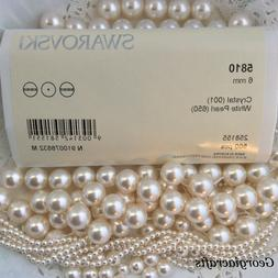 crystal pearls 5810 white factory packs or