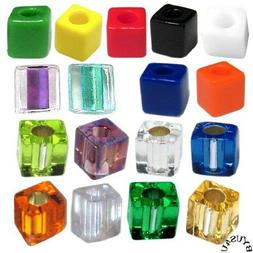 MIYUKI CUBE GLASS BEADS 4mm choice of color 100pc SQUARE LIN