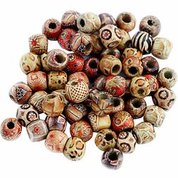 Generic 100Pcs 12Mm Mixed Round Wooden Beads For Jewelry Mak
