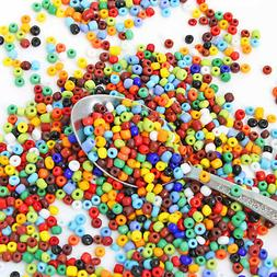 Glass Seed Beads 6/0 Mixed Assorted Colors Opaque 4mm - 50g