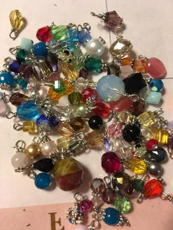 Jewelry Making Lot Of 30 Small Bead Drop Dangle Grab Bag Cry