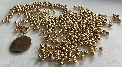 3 GROSS Gold Plated Round Spacer Beads -