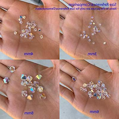 50pcs 8mm Adabele Austrian Bicone Crystal Beads Amethyst Compatible with