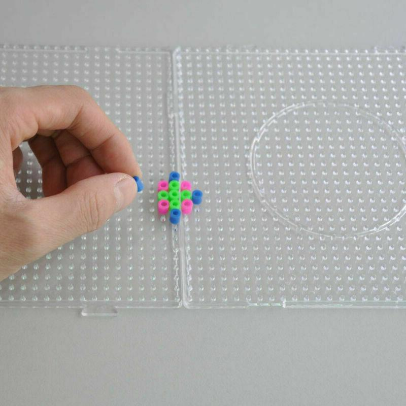 6pcs Large Perler Beads Clear Square Board