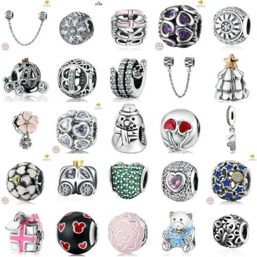 european 925 charms dangle sterling xmas beads