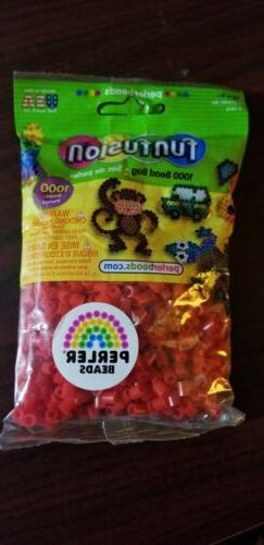 RED PERLER Fun Fusion Fuse Beads 1000 ct Solid Colors , Red,