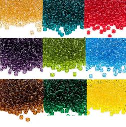 Lot of 200 Matsuno 6/0 Glass Seed Beads Shiny Transparent Co