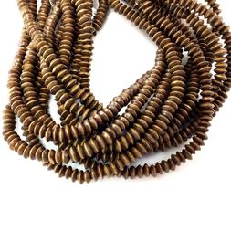 """Natural Brown Rondelle Spacer Loose Bead 15""""a 8x3mm Bicone F"""