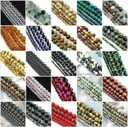 """Natural Gemstone Round Loose Bead 4mm 6mm 8mm 10mm 12mm 15"""""""