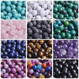 Natural Gemstone Round Stone Loose Beads lot 4mm 6mm 8mm 10m