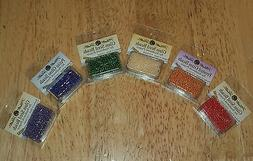NIP MILL HILL BEADS & TREASURES Antique, Frosted, Glass Seed