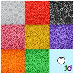 BeadTin Opaque 4mm Round Plastic Beads  - Color choice
