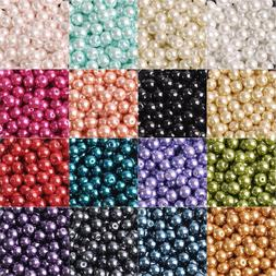 4/6/8/10/12mm  Round Czech Glass Pearl Loose Beads lot for C