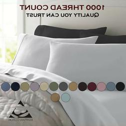 Feel Luxury Comfort 1000 Thread Count 100% Pure Cotton Solid