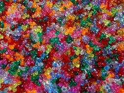 Lot of 1000 Tri-Beads Assorted Colores Art Craft Supplies Bu