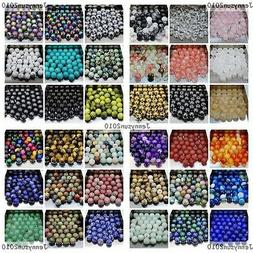 Wholesale Natural Gemstone Round Spacer Loose Beads 4mm 6mm
