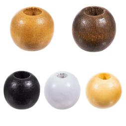 Craft County Wooden Round Beads for DIY Jewelry Necklaces Br